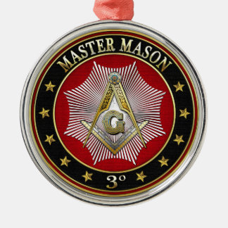 [200] Master Mason - 3rd Degree Square & Compasses Metal Ornament
