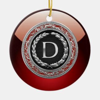 """[200] monograma de plata del vintage de """"D"""" Ornamentos De Reyes Magos"""