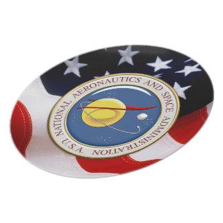 [200] NASA Emblem [3D] Dinner Plate