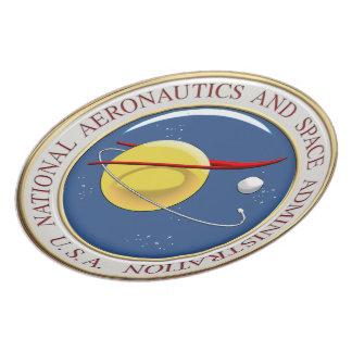 [200] NASA Emblem [3D] Melamine Plate