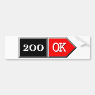 200 - OK CAR BUMPER STICKER