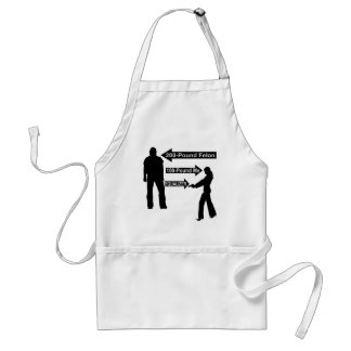 200 Pound Felon, 100 Pound Me, My Gun The Equalize Adult Apron