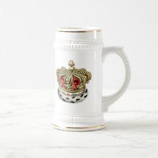 [200] Prince [King] Royal Crown [Fur+Gold][Red] Beer Stein
