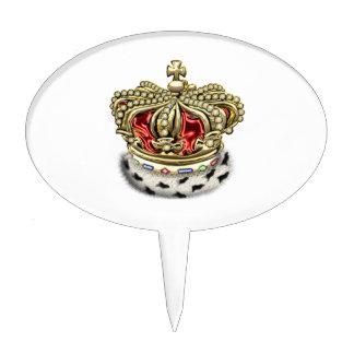 [200] Prince [King] Royal Crown [Fur+Gold][Red] Cake Topper