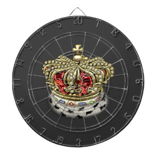 [200] Prince [King] Royal Crown [Fur+Gold][Red] Dartboard With Darts