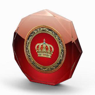 [200] Prince-Princess King-Queen Crown [Belg.Gold] Acrylic Award