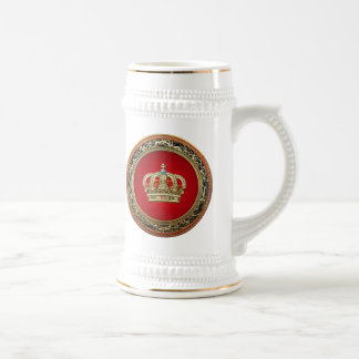 [200] Prince-Princess King-Queen Crown [Belg.Gold] Beer Stein
