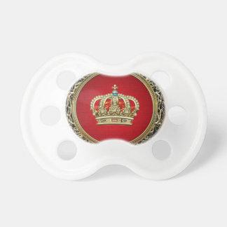 [200] Prince-Princess King-Queen Crown [Belg.Gold] Pacifier