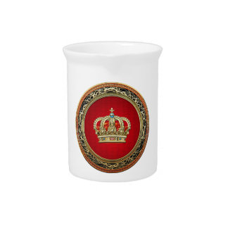 [200] Prince-Princess King-Queen Crown [Belg.Gold] Pitcher