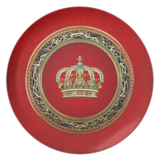 200 Prince-Princess King-Queen Crown Belg Gold Plate
