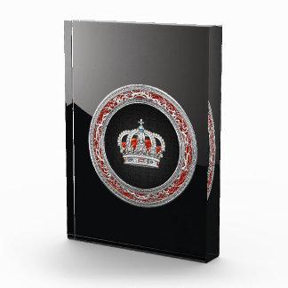 [200] Prince-Princess King-Queen Crown [Silver] Acrylic Award