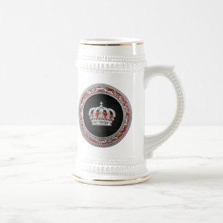 [200] Prince-Princess King-Queen Crown [Silver] Beer Stein