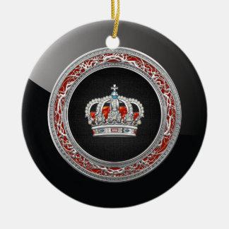 [200] Prince-Princess King-Queen Crown [Silver] Ceramic Ornament