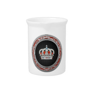[200] Prince-Princess King-Queen Crown [Silver] Drink Pitcher