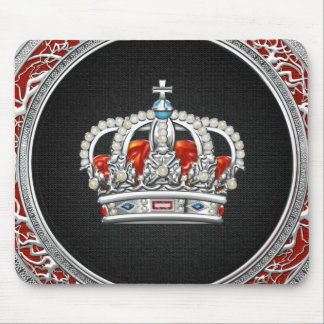 [200] Prince-Princess King-Queen Crown [Silver] Mouse Pad