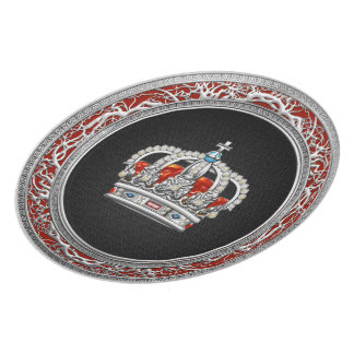 [200] Prince-Princess King-Queen Crown [Silver] Plate