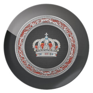 200 Prince-Princess King-Queen Crown Silver Plates