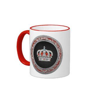 [200] Prince-Princess King-Queen Crown [Silver] Ringer Mug