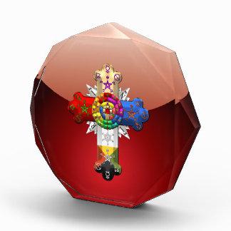 [200] Rosy Cross (Rose Croix) Acrylic Award