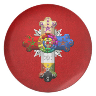 [200] Rosy Cross (Rose Croix) Dinner Plate