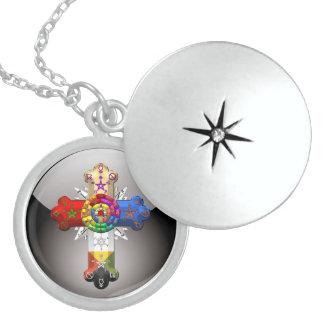 [200] Rosy Cross (Rose Croix) Locket Necklace