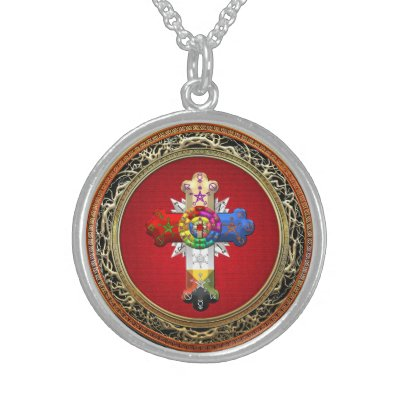 Rosicrucian rose cross lamen necklace zazzle aloadofball Choice Image