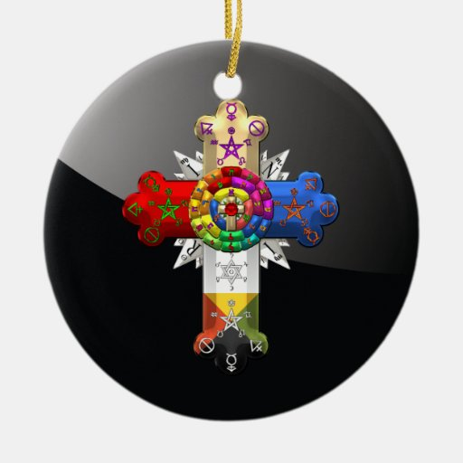 [200] Rosy Cross (Rose Croix) Christmas Tree Ornaments