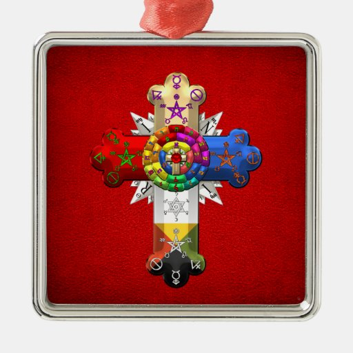[200] Rosy Cross (Rose Croix) Christmas Ornaments