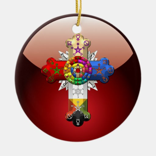[200] Rosy Cross (Rose Croix) Christmas Tree Ornament