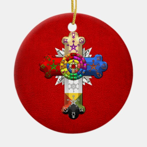 [200] Rosy Cross (Rose Croix) Christmas Ornament