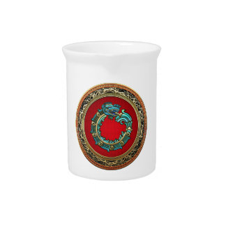 [200] Serpent God Quetzalcoatl [Jade] Beverage Pitcher