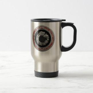[200] Serpent God Quetzalcoatl [Silver] Travel Mug