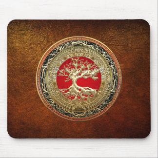 [200] Tesoro: Árbol de la vida céltico [oro] Alfombrilla De Ratón