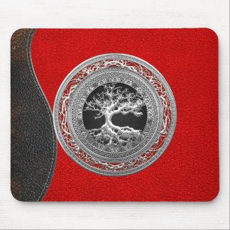 [200] Tesoro: Árbol de la vida céltico [plata] Mouse Pads