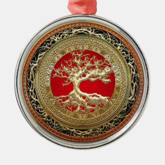 [200] Treasure Trove: Celtic Tree of Life [Gold] Christmas Tree Ornament