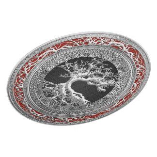 [200] Treasure Trove: Celtic Tree of Life [Silver] Dinner Plate