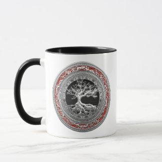 [200] Treasure Trove: Celtic Tree of Life [Silver] Mug