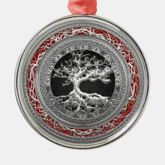 [200] Treasure Trove: Celtic Tree of Life [Silver] Ornaments