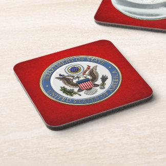 [200] U.S. Department of State (DoS) Emblem [3D] Coaster