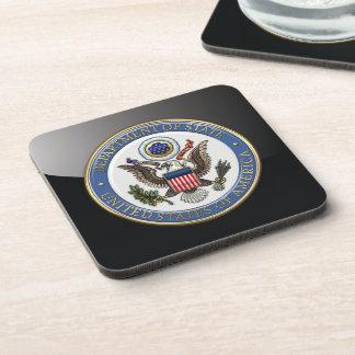 [200] U.S. Department of State (DoS) Emblem [3D] Drink Coaster