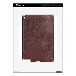 200 Year Old Leather Book Cover iPad 2 Decal