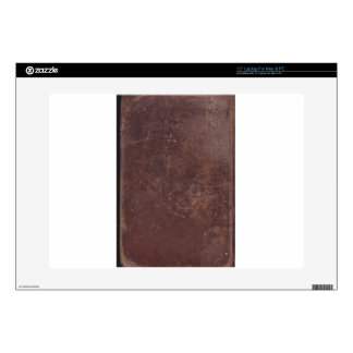 """200 Year Old Leather Book Cover Skin For 15"""" Laptop"""