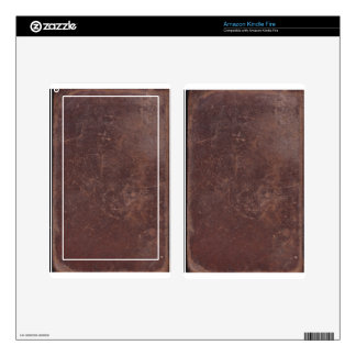200 Year Old Leather Book Cover Skin For Kindle Fire