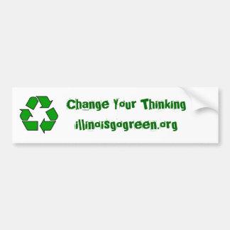 200px-Recycle001.svg, cambian su Thinkingillin… Pegatina Para Auto