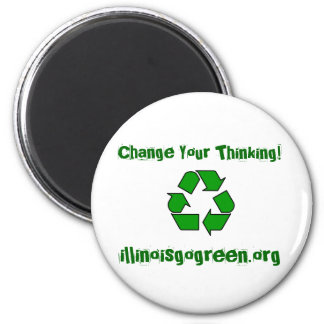 200px-Recycle001.svg, Change Your Thinking!, il... Refrigerator Magnet