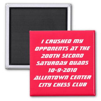200th Allentown Quads 2 Inch Square Magnet