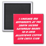 200th Allentown Quads Fridge Magnet