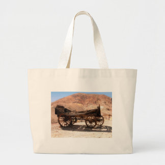 2010-06-28 C Calico Ghost Town (53)old_wagon Large Tote Bag
