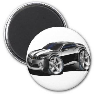 2010-11 Camaro Black-White Car 2 Inch Round Magnet