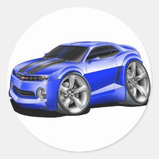2010-11 Camaro Blue-Black Car Classic Round Sticker